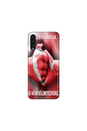 cupcase Samsung Galaxy A20s Kılıf Desenli Esnek Silikon Telefon Kabı Kapak - Türkün Gücü 0