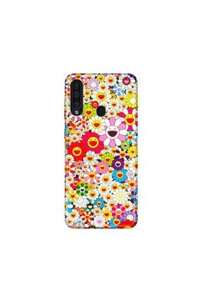 cupcase Samsung Galaxy A20s Kılıf Desenli Esnek Silikon Telefon Kabı Kapak - Papatya 0