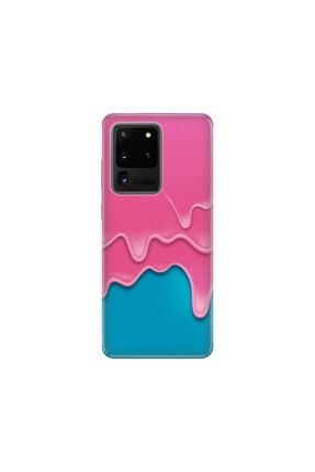 cupcase Samsung Galaxy S20 Ultra Kılıf Desenli Esnek Silikon Telefon Kabı Kapak - Dondurma 0
