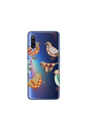 cupcase Xiaomi Mi 9 Se Kılıf Desenli Esnek Silikon Telefon Kabı Kapak - Sanat Kuş 0