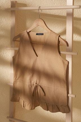 TRENDYOLMİLLA Bej Bağlama Detaylı Bluz TWOSS20BZ0898 0