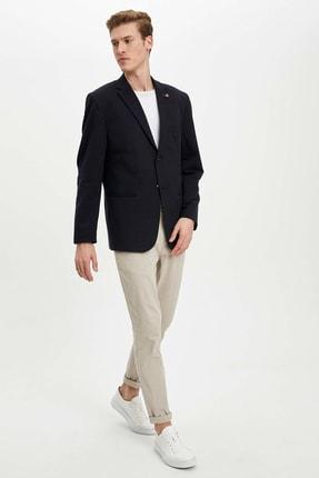 Defacto Erkek Lacivert Regular Fit Basic Blazer Ceket R2505AZ.20SP.NV190 1