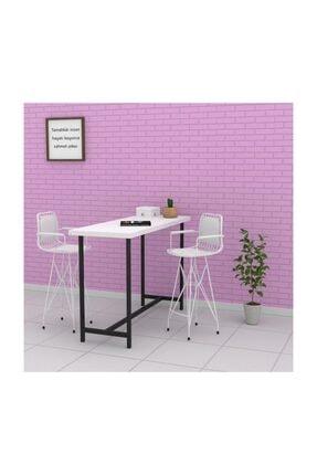 Kenzlife Knsz Kafes Tel Bar Sandalyesi 1 Li Zengin Byzbyz Kolçaklı Sırt Minderli Ofis Cafe Bahçe Mutfak 1