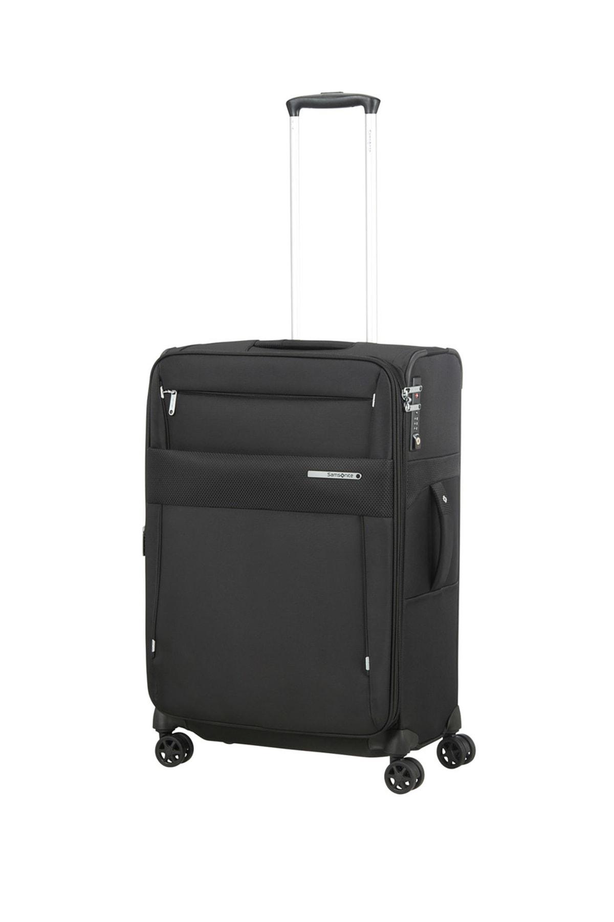 Siyah Unisex Duopack - 4 Tekerlekli Körüklü Tek Bölmeli Orta Boy Valiz 67Cm 54022