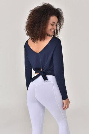 bilcee Lacivert Kadın Uzun Kol T-Shirt GS-8108 2