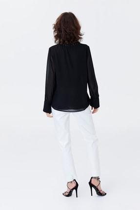 İpekyol Kadın Siyah Yaka Detaylı Şifon Bluz IS1190006125001 4