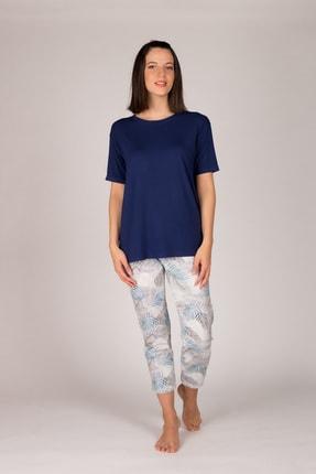 Hays Kadın Lacivert Kolsuz  Midi Pijama  Takımı 1