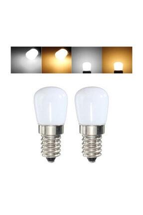 Cata Tuz Lambası Buzdolabı Ampulü Led Ampul 2 Watt E14 Duy Beyaz Işık 0
