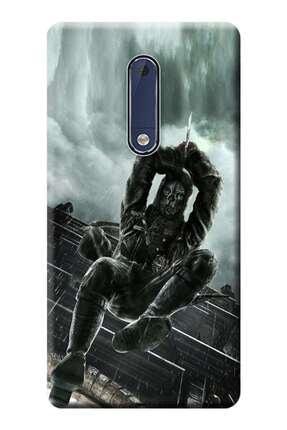 Kılıfmerkezi Nokia 5 / Nokia 5 Pro Kılıf Ta-1024 Desen Baskılı Silikon Dishonored Stk:240 0