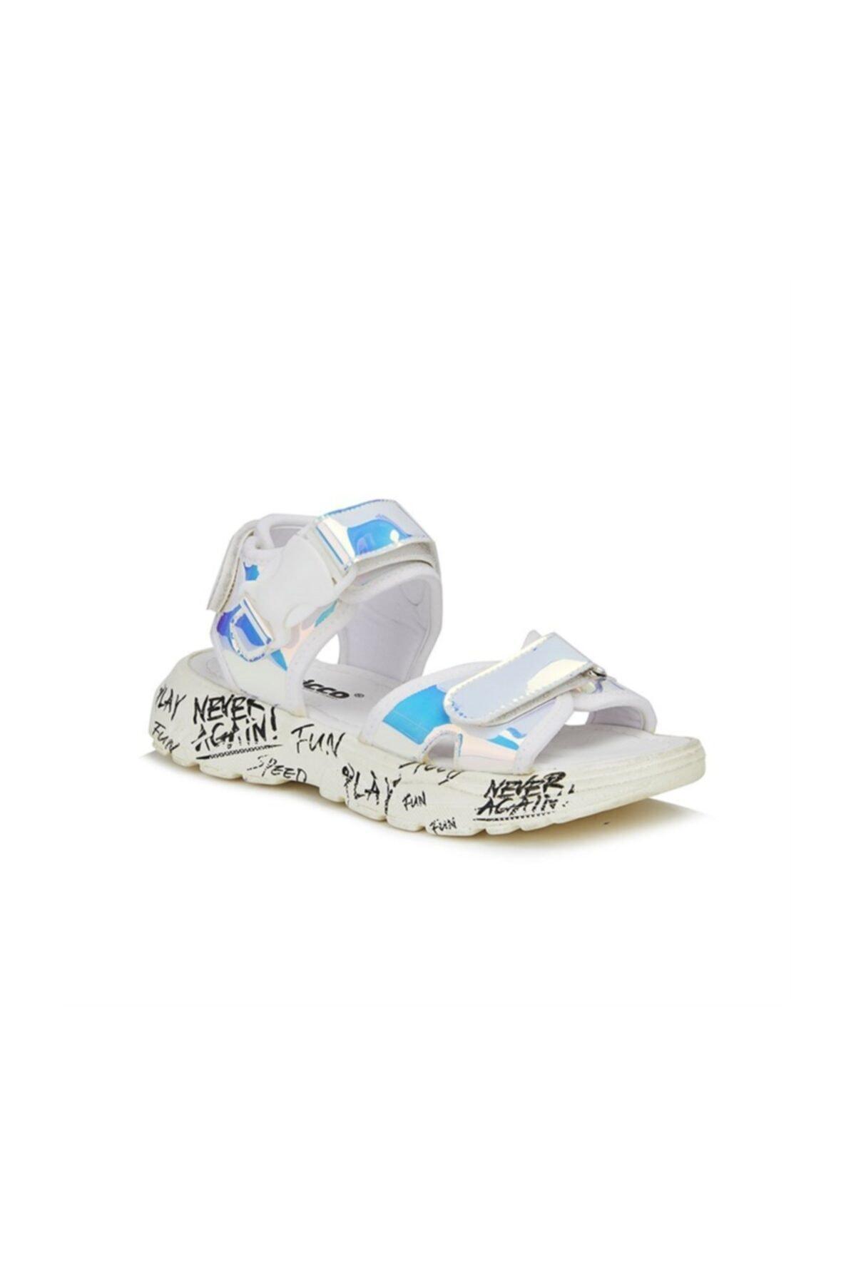 Çocuk Gümüş Tempo Sandalet