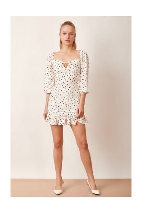 Never more Puantiyeli Mini Elbise 0
