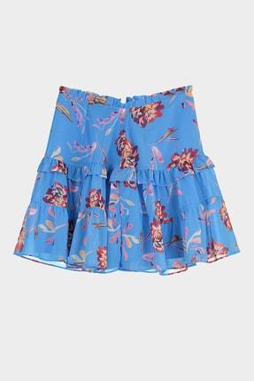 TRENDYOLMİLLA Mavi Çiçek Baskılı Etek TWOSS20ET0419 4