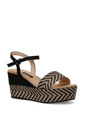 Nine West Norma Siyah Kadın Dolgu Topuklu Sandalet 1