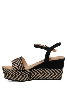 Nine West Norma Siyah Kadın Dolgu Topuklu Sandalet 3
