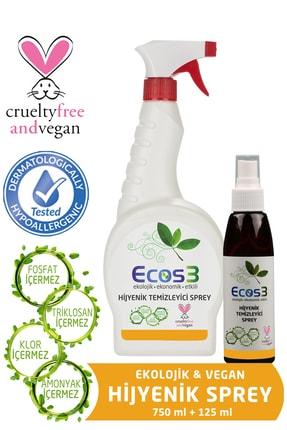 Ecos3 Ekolojik Hijyenik Temizleyici Sprey 750 ml + 125 ml 0