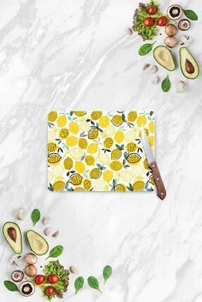 Decovetro Limon Desen Görünümlü | Cam Kesme Tahtası - Kesim Tablası | 20 X 30 Cm 0