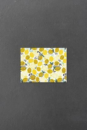Decovetro Limon Desen Görünümlü | Cam Kesme Tahtası - Kesim Tablası | 20 X 30 Cm 1