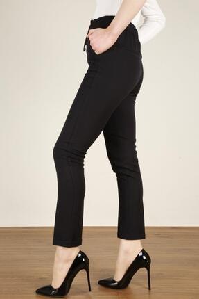 Z GİYİM Kadın Beli Lastikli Duble Paça Kumuş Pantolon 6401zgm20 1