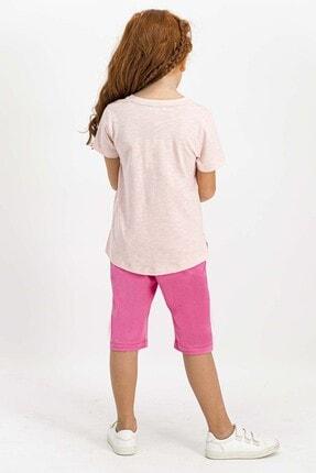 US Polo Assn Lisanslı Açık Pembe Kız Çocuk Kapri Takım 2