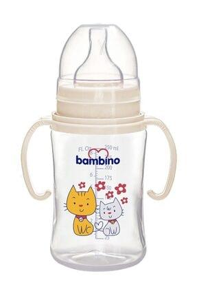 Bambino Pp Geniş Ağızlı Kulplu Biberon 250 Ml 0