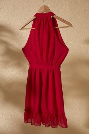 TRENDYOLMİLLA Kırmızı Kuşaklı Elbise TWOSS20EL2259 2