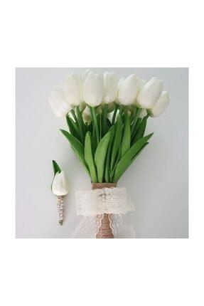 Evsay Gelin Çiçeği Gelin Buketi Lale Buketi Ve Damat Yaka Çiçeği 0