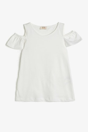 Koton Beyaz Kız Çocuk T-Shirt 0
