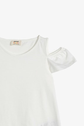 Koton Beyaz Kız Çocuk T-Shirt 1