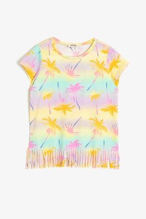 Koton Sarı Desenli Kız Çocuk T-Shirt 0