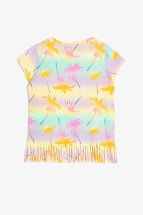 Koton Sarı Desenli Kız Çocuk T-Shirt 1