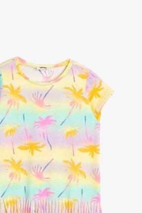 Koton Sarı Desenli Kız Çocuk T-Shirt 2