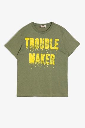 Koton Haki Erkek Çocuk T-Shirt 0