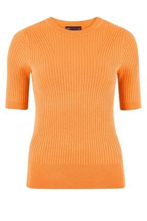 Marks & Spencer Kadın Ten Rengi Yuvarlak Yaka Kısa Kollu Kazak T38005531 3