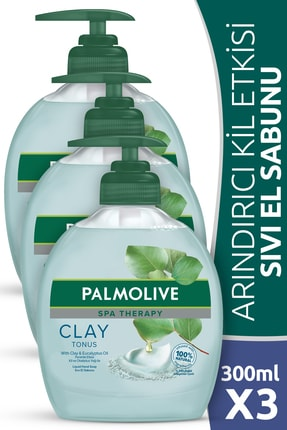 Palmolive Spa Therapy Clay Tonus Kil Sıvı El Sabunu 300 ml x 3 Adet 0