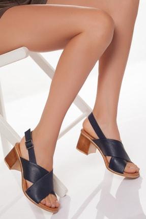 Zeus Sandals Hakiki Deri Kadın 5cm Topuklusandalet 0