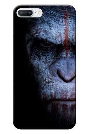 Kılıfmerkezi Iphone 7 Plus Kılıf Desen Baskılı Silikon Maymun Face Stk:147 0