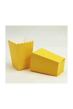Tahtakale Toptancısı 12li Düz Renk Patlamış Mısır Kutusu Sarı 0