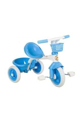 BABYFUN 3 Teker Pedallı Çocuk Bisikleti Pedallı Plastik Araba Mavi 0