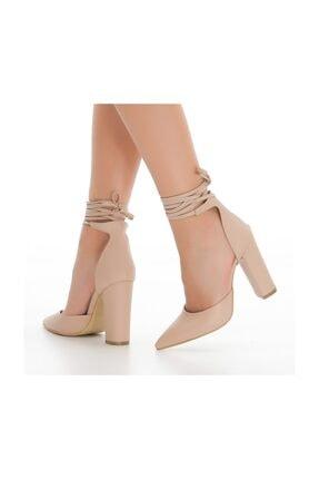 sothe shoes Ten Deri Bayan Topuklu Ayakkabı Stiletto Kalın Topuk Kadın Ayakkabı 1