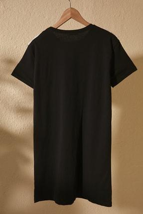 TRENDYOLMİLLA Siyah Dantel Detaylı Örme Elbise TWOSS20EL2819 2