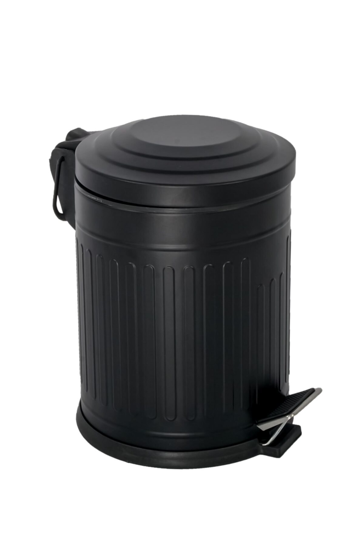 Siyah Vintage Çöp Kovası 5 Lt