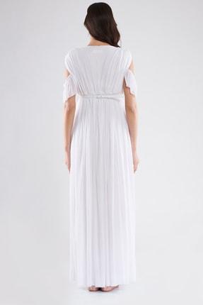 LYN MAMA Hamile Starlight Elbise - Beyaz 2
