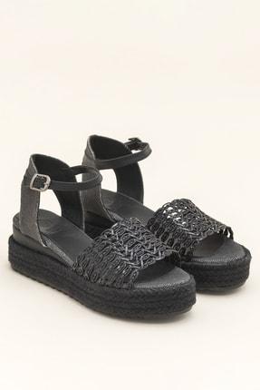 Elle ROWE Siyah Kadın Sandalet 1
