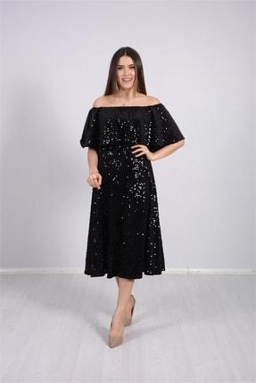 giyimmasalı Payet Tasarım Elbise - Siyah 3
