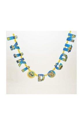Happyland 1 Adet Sarı Mavi Minyon,minion,minions Iyiki Doğdun Yazı 0