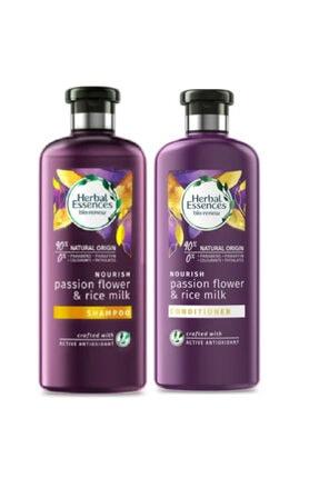Herbal Essences Şampuan Çarkıfelek Çiçeği Ve Pirinç Sütü 400 ml+ Saç Bakım Kremi  360 ml 0
