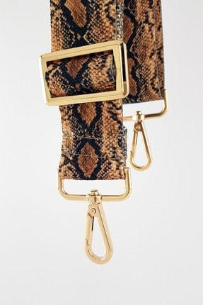 FAEN Kum Yılan Desenli Çanta Askısı Gold Metal 0