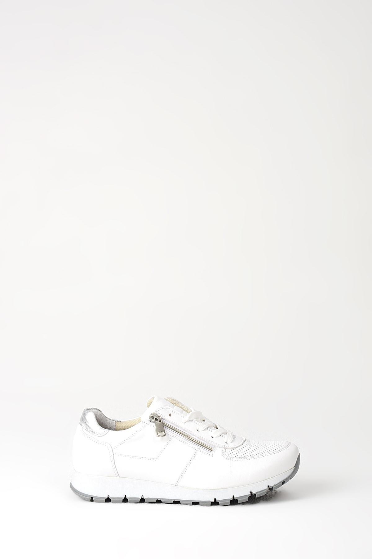 Uniquer Hakiki Deri Beyaz Kadın Ayakkabı 10157U 678 2