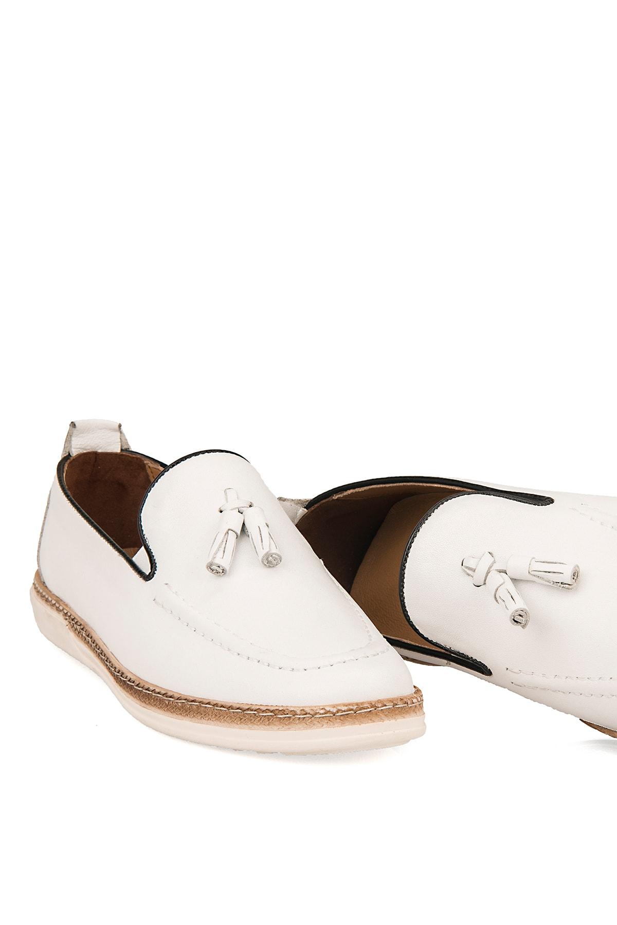 Ziya Hakiki Deri Beyaz Erkek Ayakkabı 101415 506067 1