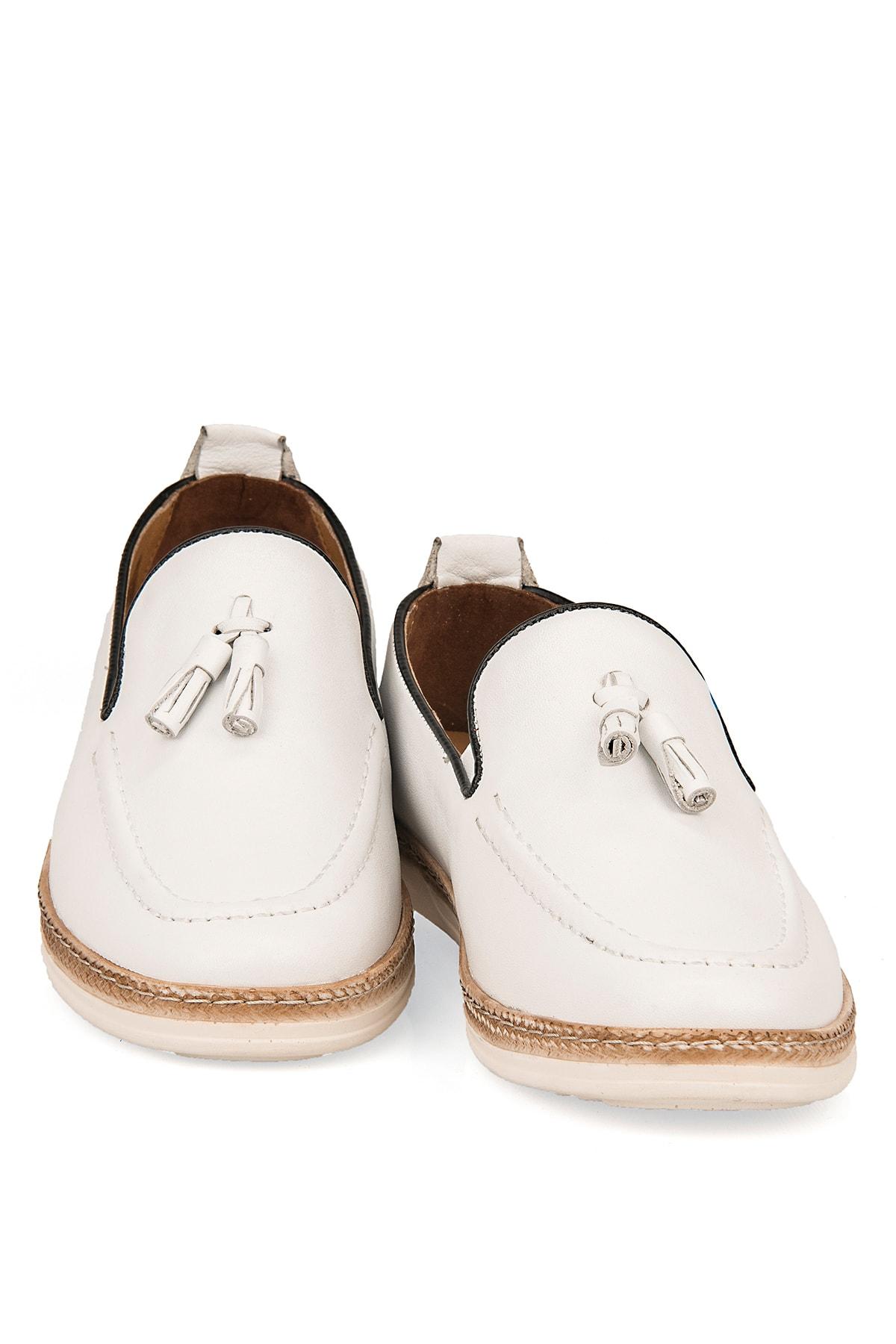 Ziya Hakiki Deri Beyaz Erkek Ayakkabı 101415 506067 2